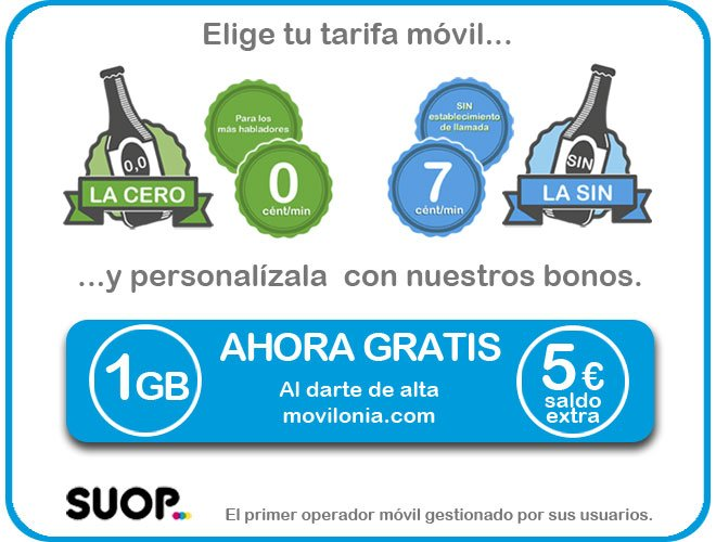 Promoción exclusiva Suop y Movilonia.com