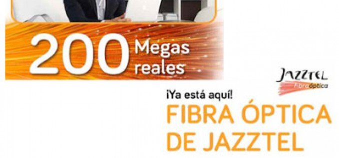 Jazztel anuncia la fibra de 200Mbps a precio de 20Mbps