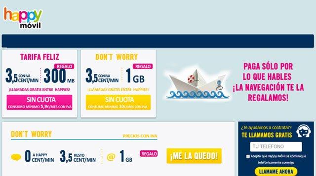 tarifas con Internet móvil gratis