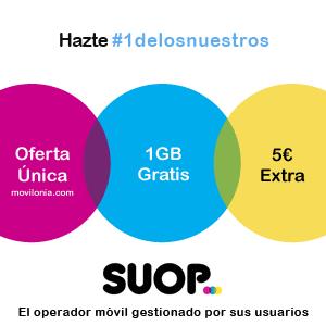 promoción Suop y movilonia.com