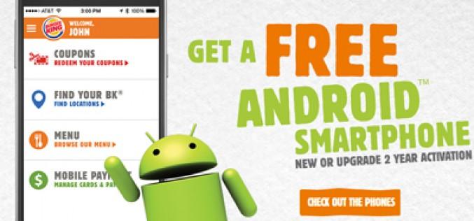 Burger King regala smartphones Android… en Estados Unidos