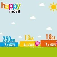 Happy Móvil recibe septiembre con numerosos cambios.