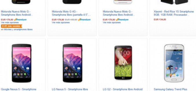 Los smartphones más vendidos en Amazon España