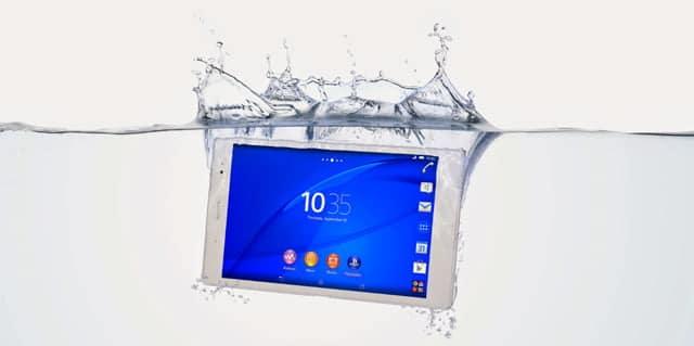 El Sony Xperia Z3 Tablet Compact es resistente al agua.