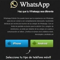 La versión 'dorada' de WhatsApp es el último de una larga lista de timos.