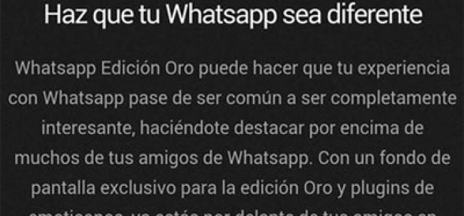WhatsApp Oro, otro timo premium
