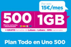 Nuevo bono de Lebara con 500 minutos y 1GB por 15 euros al mes