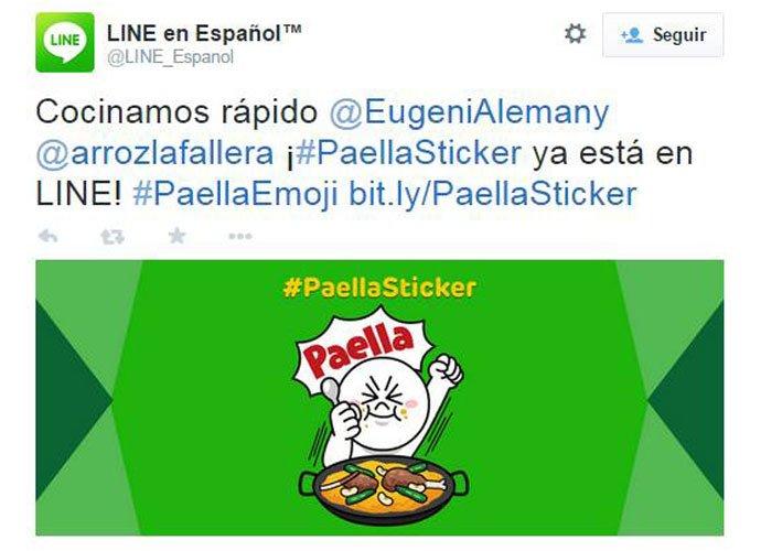 Line anunció en su Twitter la llegada del sticker.