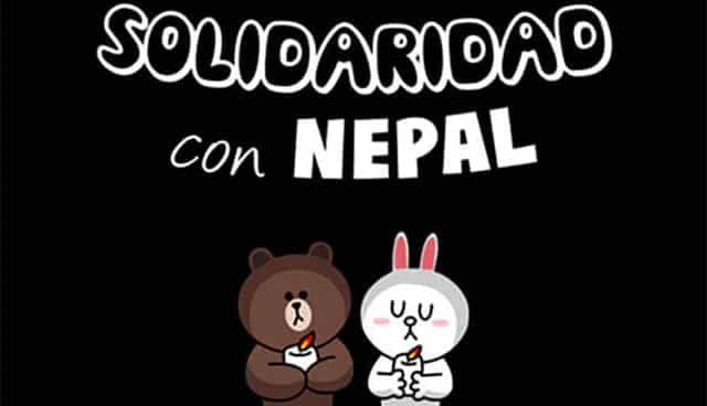 Line, aplicación nacida de la tragedia de Japón, también se ha movilizado para ayudar a Nepal