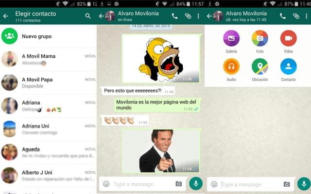 Adaptándose a Material Design, la nueva versión de WhatsApp para Android es más intuitiva.
