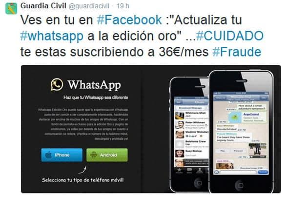 Tanto la Policía como la Guardía Civil han alertado en las redes sociales de los riesgos de este tipo de fraudes.