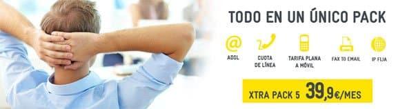 tarifa convergente de Xtra Telecom