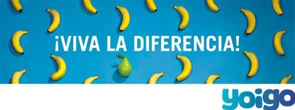¡Viva la diferencia! de Yoigo