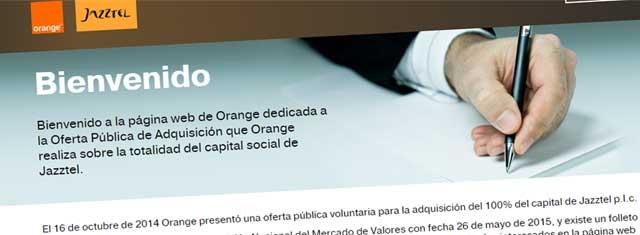 OPA de Orange a Jazztel
