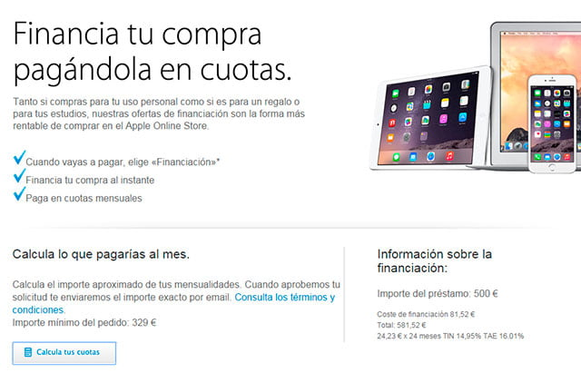 financiación del Phone en Apple