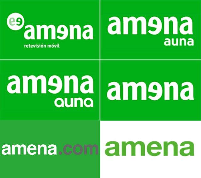 Evolución de los logos de Amena desde 1999 hasta la actualidad.