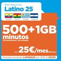 El bono Todo en Uno Latino 25 se dirige a los usuarios que quieran hablar con
