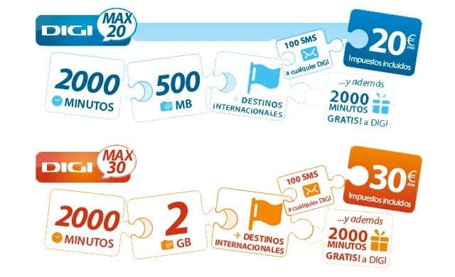 Para acceder a la subvención de terminales, a cambio de 9 o 18 meses de permanencia, es necesario ser cliente de alguna de las dos tarifas de contrato de DIGI mobil.