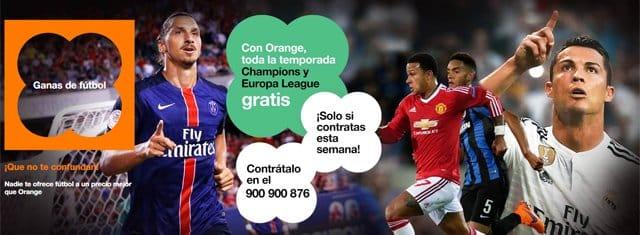 Orange sigue los pasos de Vodafone y amplía su promoción para contratar La Champions y Europa League hasta el 10 de octubre.