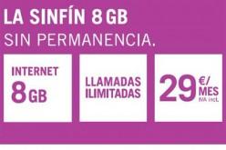 Yoigo lanza la nueva tarifa SinFín: 8GB y llamadas ilimitadas por 29 euros al mes