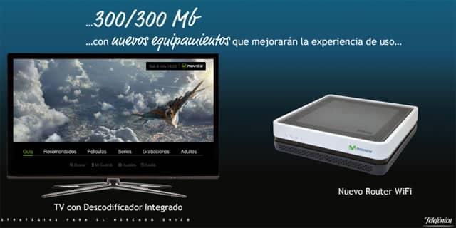 Para mejorar la fidelización de sus clientes, Movistar ofrecerá mejores routers y televisores a precios ajustados con el decodificador integrado.