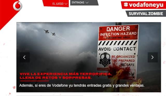La última iniciativa de Vodafone yu llevará a los clientes que lo deseen a un particular apocalipsis zombi.