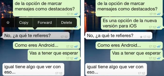 Cómo marcar mensajes destacados en WhatsApp