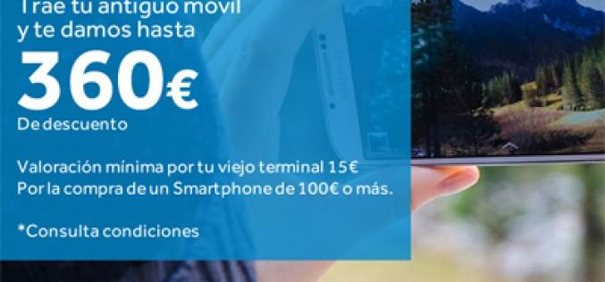 Hasta 360 euros por tu antiguo smartphone