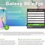 landing de Skillgamee con Samsung Galaxy S6 edge