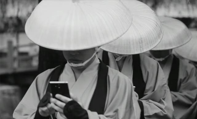 La vida del samurai con smartphone puede ser muy arriesgada.