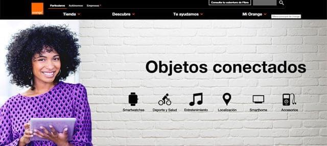 tienda online de objetos conectados de Orange