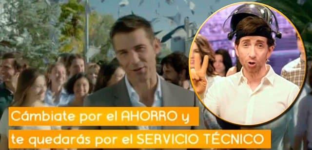 Jesús Vázquez y Pablo Motos anunciando Jazztel