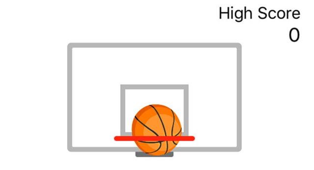 Minijuego de baloncesto de Facebook Messenger