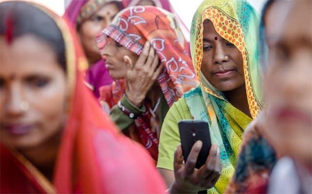 teléfono móvil en India