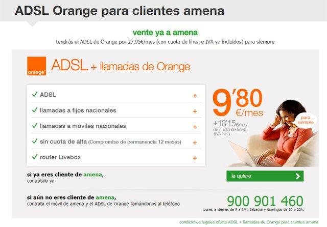 ADSL de Amena