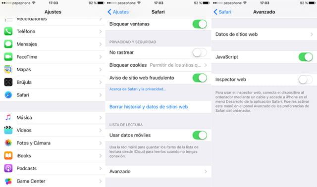 Solucionar fallo de iOS 9.3