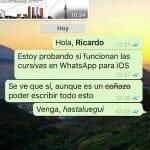 Negritas en WhatsApp