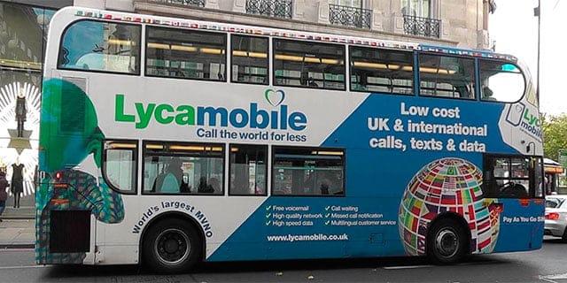 Autobús Lycamobile