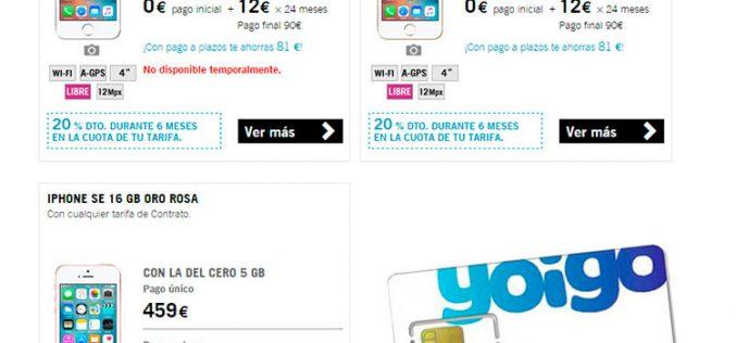 El iPhone SE llega a Yoigo
