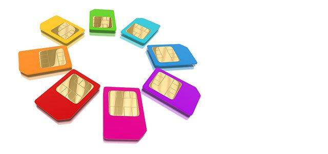 Tarjetas SIM de colores