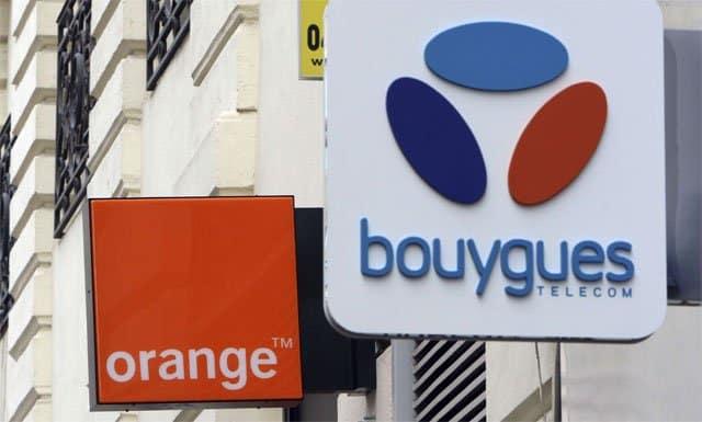 tiendas Orange y Bouygues Telecom