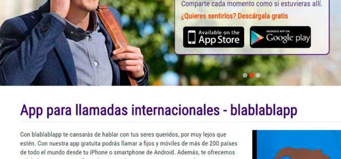 Blablablapp, nueva aplicación de Orange para hacer llamadas low cost al extranjero