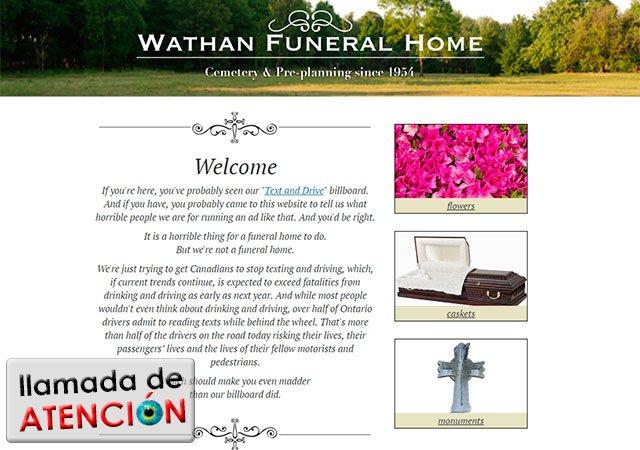 Página web de Wathan Funeral Home