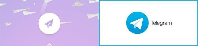 aviones de papel de Google y logo de Telegram