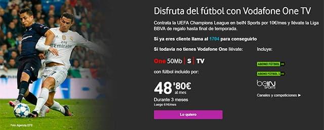 Fútbol gratis en Vodafone TV