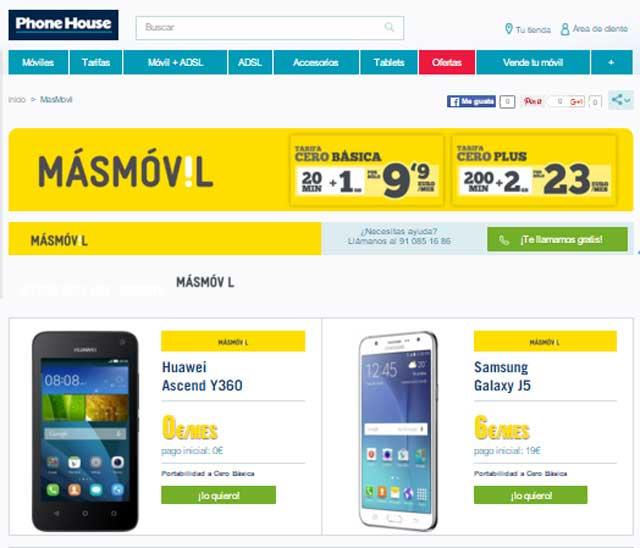 tarifas de Masmóvil en Phone House