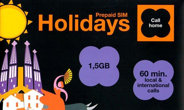 tarjeta prepago Holidays de Orange