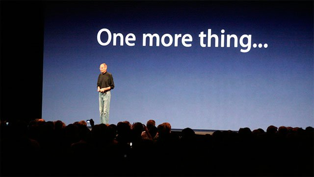 """Steve Jobs: """"One more thing..."""""""