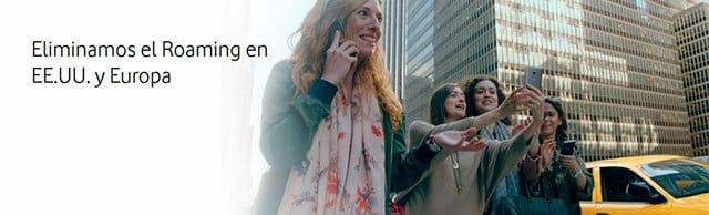 roaming de Vodafone en UE y Estados Unidos