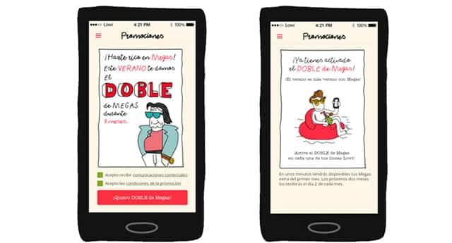 app para activar promoción de doble de MB de Lowi